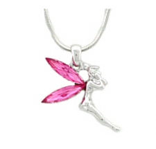 Rhinestone TinkerBell Necklace - Wholesale Color Assortment