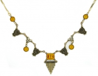 Vintage Art Deco Style Austrian Crystal Fashion Necklace