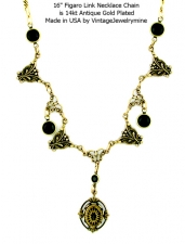 vintage style art deco fashion necklace