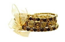 vintage look victorian style stacked crystal costume bracelets