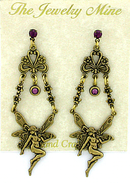 Vintage Reproduction Fairy Chandelier Earrings
