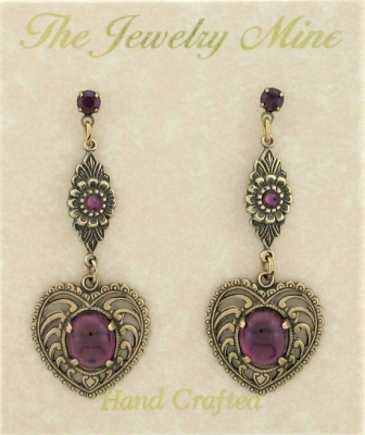 Vintage Style Fashion Heart Earrings