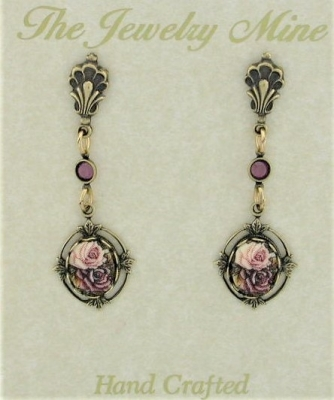 vintage Victorian style fashion costume earrings