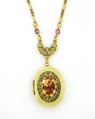 Vintage Victorian Locket Necklace