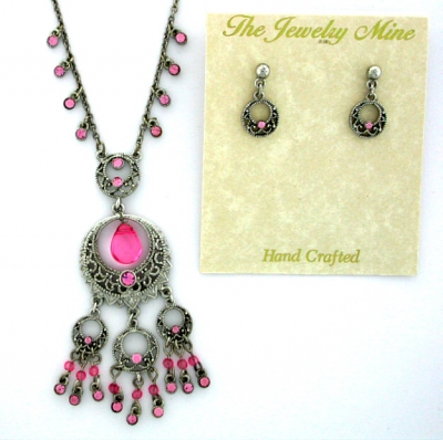 Vintage Reproduction Victorian Style Necklace and Earrings Sets