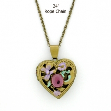 Victorian Style Heart Locket Necklace
