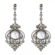 Victorian Style Bridal Chandelier Earrings - Austrian Crystal