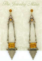 Vintage Art Deco Style Austrian Crystal Chandelier Earrings