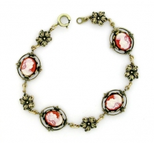 vintage look Victorian style cameo costume bracelet