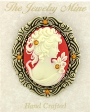 Cameo Brooch Pin