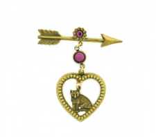 victorian Valentine's Day fashion brooch