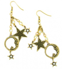 Moon/Stars Charm Earrings