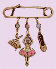 dance jewelry,ballerina charm pin
