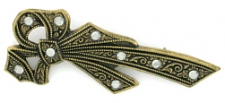 vintage look victorian style bow pin