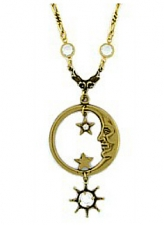 vintage celestial fashion moon necklace
