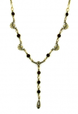 vintage look art deco style austrian crystal necklace