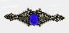 vintage look Victorian style filigree bar pin
