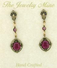 Vintage Reproduction Victorian Style Crystal Fashion Earrings