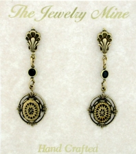Vintage Look Art Deco Style Fashion Drop Earrings | Intaglio
