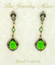 vintage Victorian style crystal fashion earrings