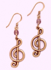 music note fashion earrings