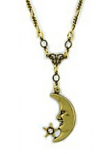 moon necklace,moon pendant