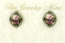 vintage Victorian style fashion costume button earrings