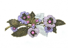 vintage hand painted flower brooch