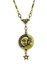 vintage celestial jewelry,moon necklace,celestial fashion necklace