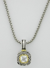 Yurman Inspired Cubic Zirconia Fashion Jewelry Necklace