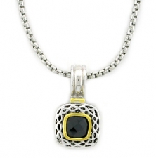 Yurman inspired cz fashion necklace