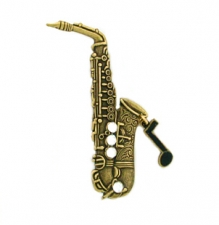 saxophone pin,music jewelry