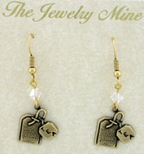 vintage tea jewelry,charm earrings