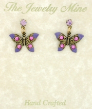Victorian Style Butterfly Earrings