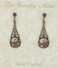 Vintage Victorian Filigree Earrings
